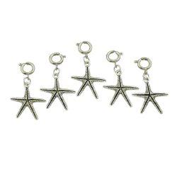 5pcs/set Antique Silver Leaf Starfish Shell Hair Claws -