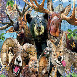 Animals 3D Jigsaw Paper Puzzle Block Assembly Birthday Toy -