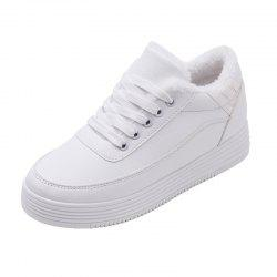 Cashmere Laced Slippery White Shoes -