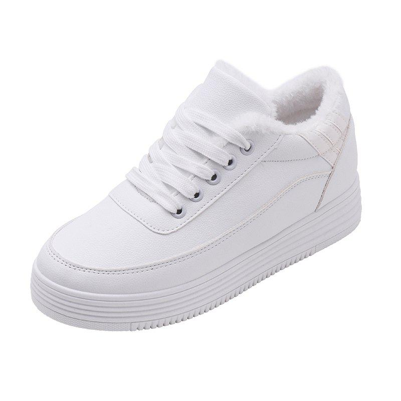 Best Cashmere Laced Slippery White Shoes