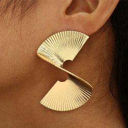 Punk Exaggerated Personality Gold Spiral Earrings Party Jewelry -