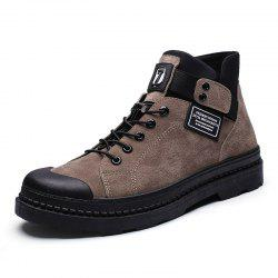Autumn Winter Men Canvas Boots Army Combat Style Fashion High-top Military Ankle -