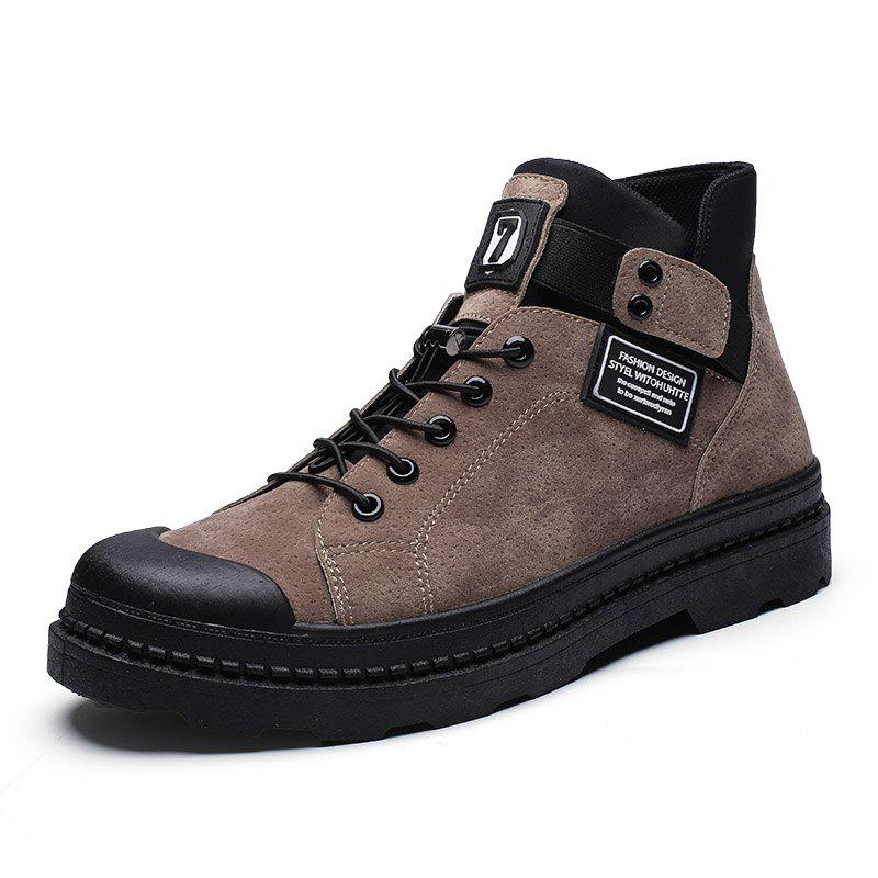 New Autumn Winter Men Canvas Boots Army Combat Style Fashion High-top Military Ankle