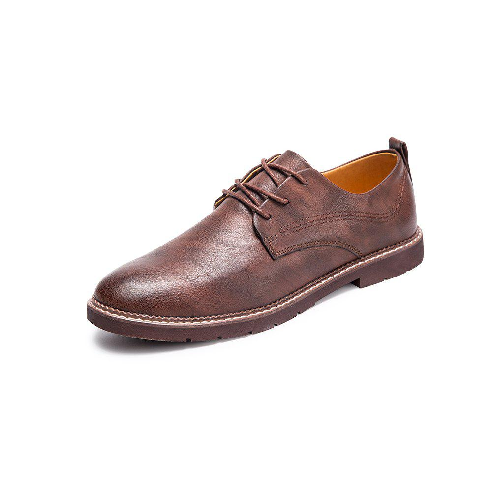 Latest Autumn Comfortable Leather Shoes Fashion with Low Men'S Shoes