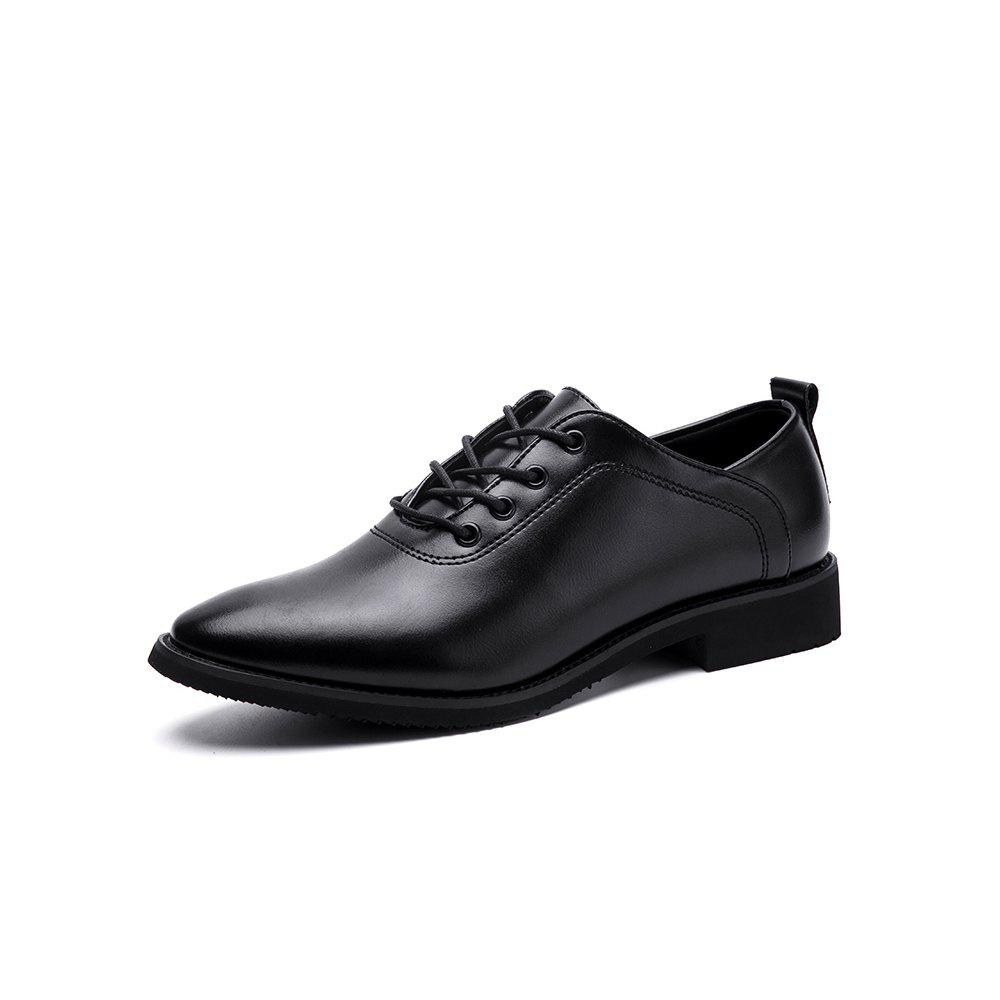 Best Leather Business Dress Trend Brock Increase Men'S Shoes Black Casual Wild
