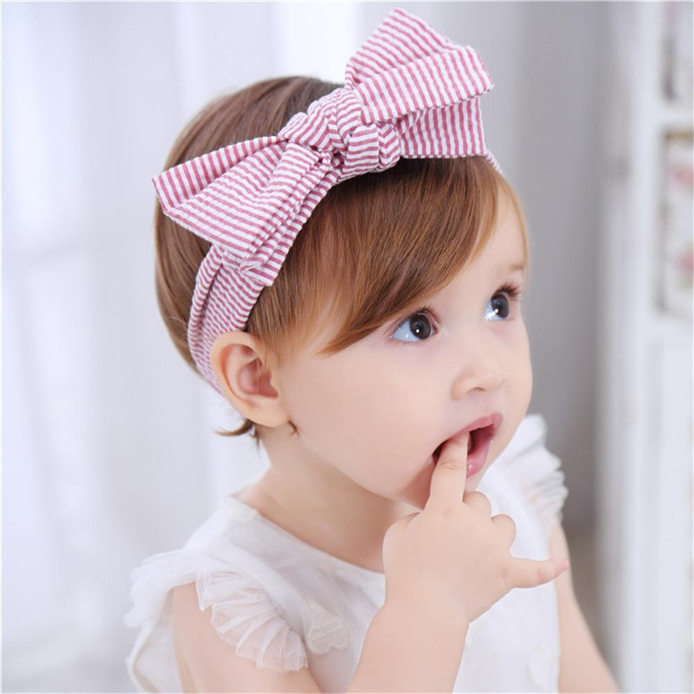 New Baby's 1 Pc Hairband Striped All Match Elastic Hair Accessory
