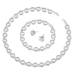 New Fashion Pearl Necklace 3 Piece Set -