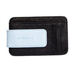 Men's card bags have multiple card positions that are leather. -