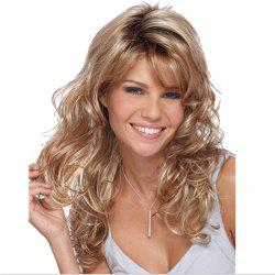 Europe and The United States Partial Fluffy Long Curly Brown Wig -