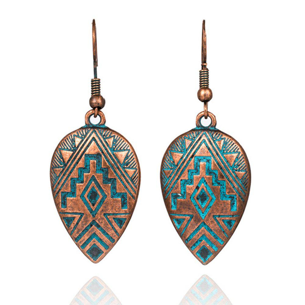 Store Women Fashion Dripping Alloy Carving Pattern Jewelry Drop Earrings