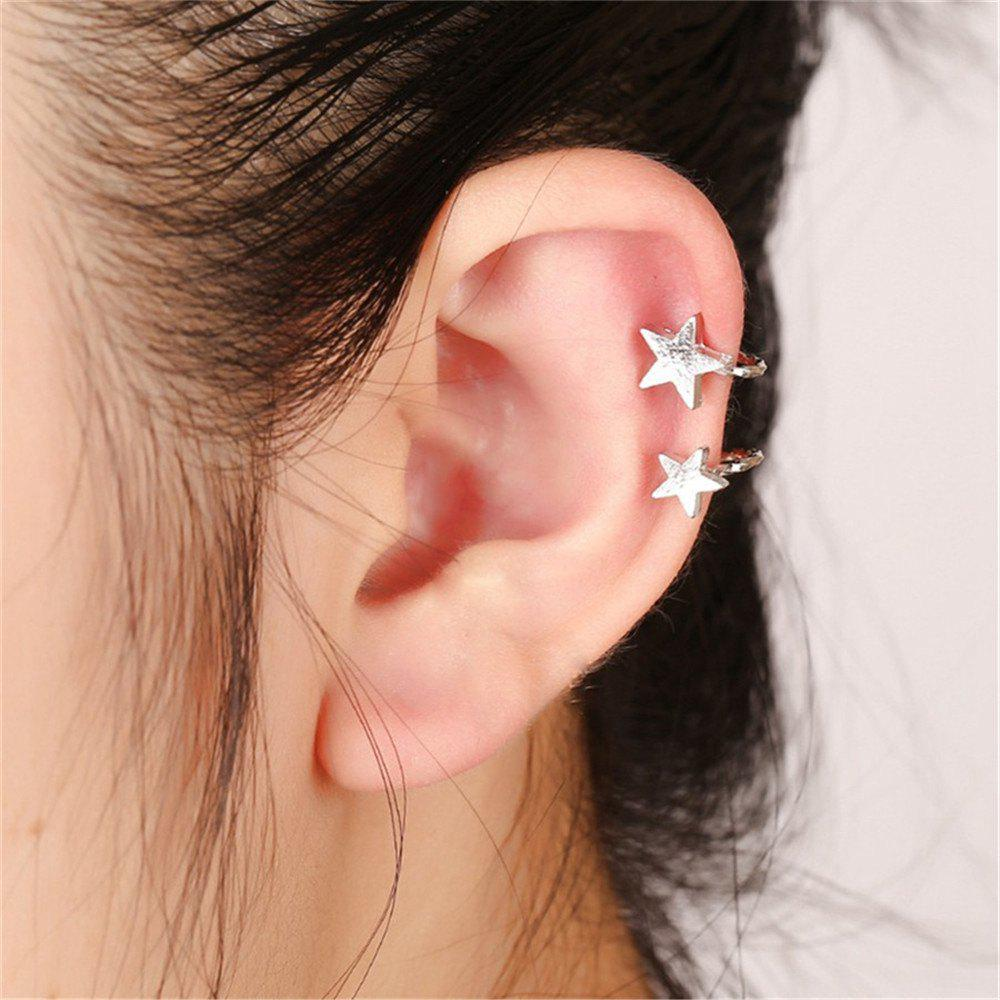 Creative Women's Star Earrings Without Earholes
