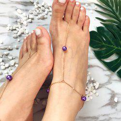Creative Multi-Color Pearl Anklet -