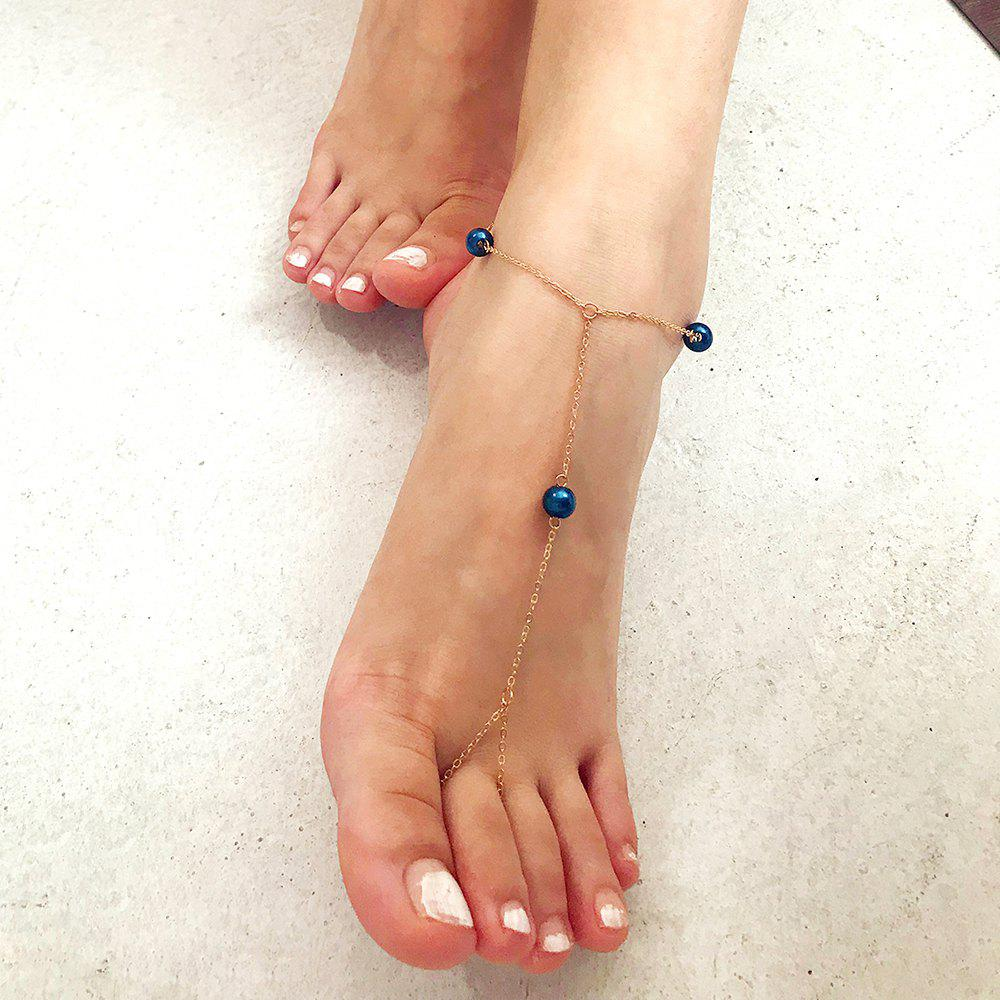 Chic Creative Multi-Color Pearl Anklet