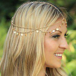 Super Shiny Discs Multi-Layered Wave Tassel Chain Headband Hair Accessories -