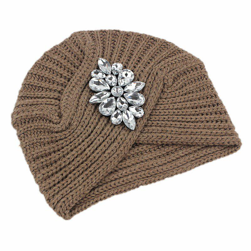 Hot New Lady Fashion Knit Sweater with Diamond Casual India Sweater Hat