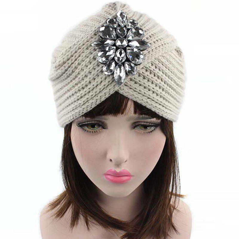 Online New Lady Fashion Knit Sweater with Diamond Casual India Sweater Hat