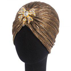 New Woman Fashion Golden Fold with Diamond India Hat -
