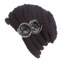 New Woman Fashion Knit Solid Casual Sweater Hat -
