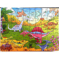 Old Animals 3D Jigsaw Paper Puzzle Block Assembly Birthday Toy -