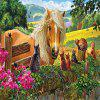 Horse and Cat 3D Jigsaw Paper Puzzle Block Assembly Birthday Toy -