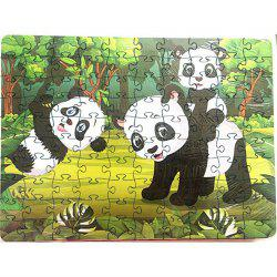 Panda 3D Jigsaw Paper Puzzle Block Assembly Birthday Toy -