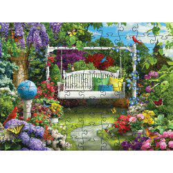 Green Plant 3D Jigsaw Paper Puzzle Block Assembly Birthday Toy -
