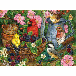Birds Eating 3D Jigsaw Paper Puzzle Block Assembly Birthday Toy -