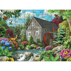 3D Jigsaw Paper House Puzzle Block Assembly Birthday Toy -