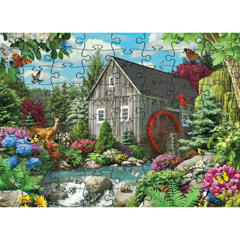 Outfits 3D Jigsaw Paper House Puzzle Block Assembly Birthday Toy