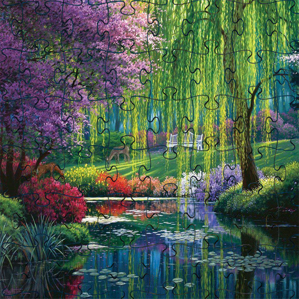 Latest 3D Jigsaw Paper River Scenery Puzzle Block Assembly Birthday Toy