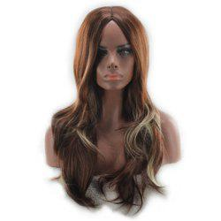 Wig Female Long Curly Hair Big Wave in The Long Fiber Wig -