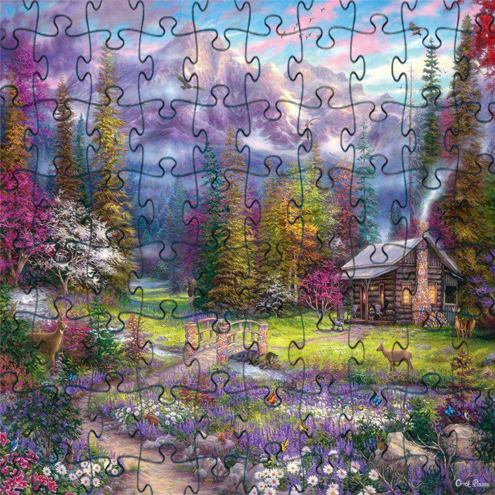 Buy 3D Jigsaw Paper Woods House Puzzle Block Assembly Birthday Toy