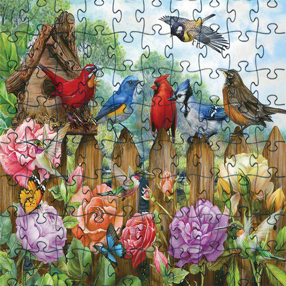 Outfit 3D Jigsaw Paper Flying Birds Puzzle Block Assembly Birthday Toy