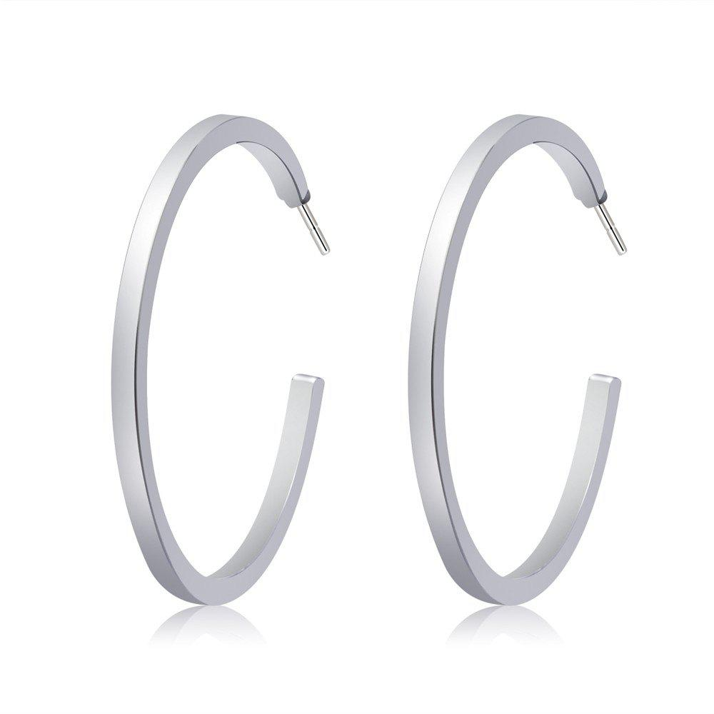 Online Silver Plated Fashion Big Circle Earrings