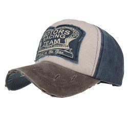 New Color Contrast Patch Casual Fashion Baseball Cap -