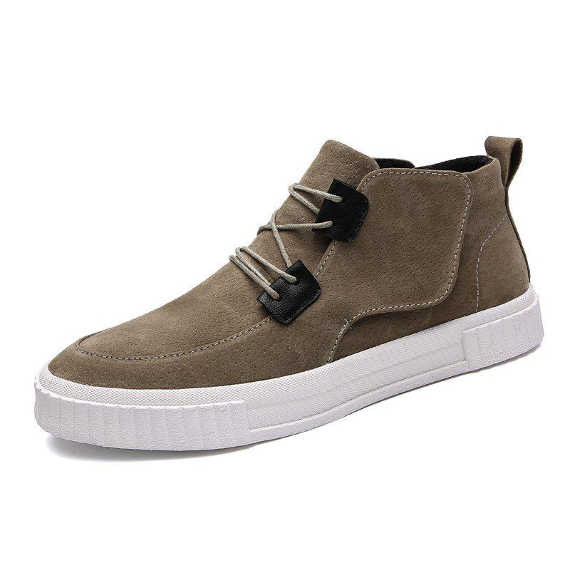 Latest Cotton-Padded Leather Mid-Upper Casual Shoes
