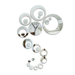 Diy Acrylic European Living Room Oversized 3D Wall Sticker Wall Clock -