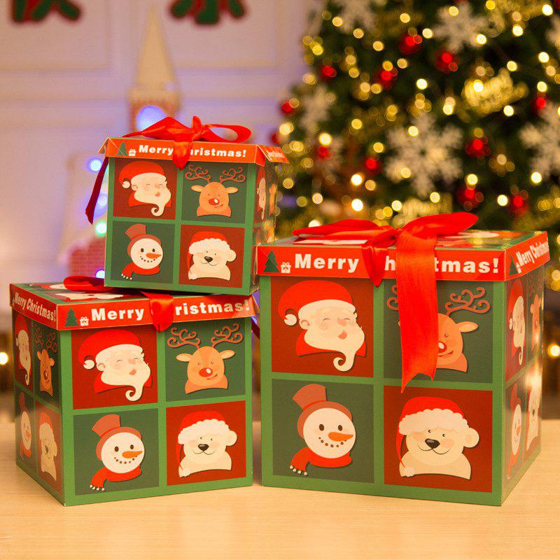 Discount Christmas Paper Gift Box Three-Piece Gift Box Gift Package
