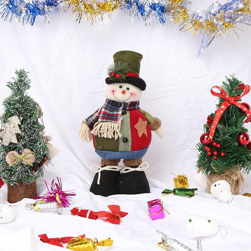 Fancy Christmas Retractable Old Man Doll Non-Woven Hanging Ornaments