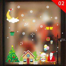 Christmas Ornament PVC Glass Seamless Static Sticker -