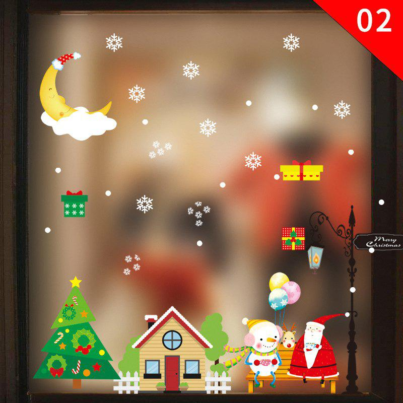 Latest Christmas Ornament PVC Glass Seamless Static Sticker