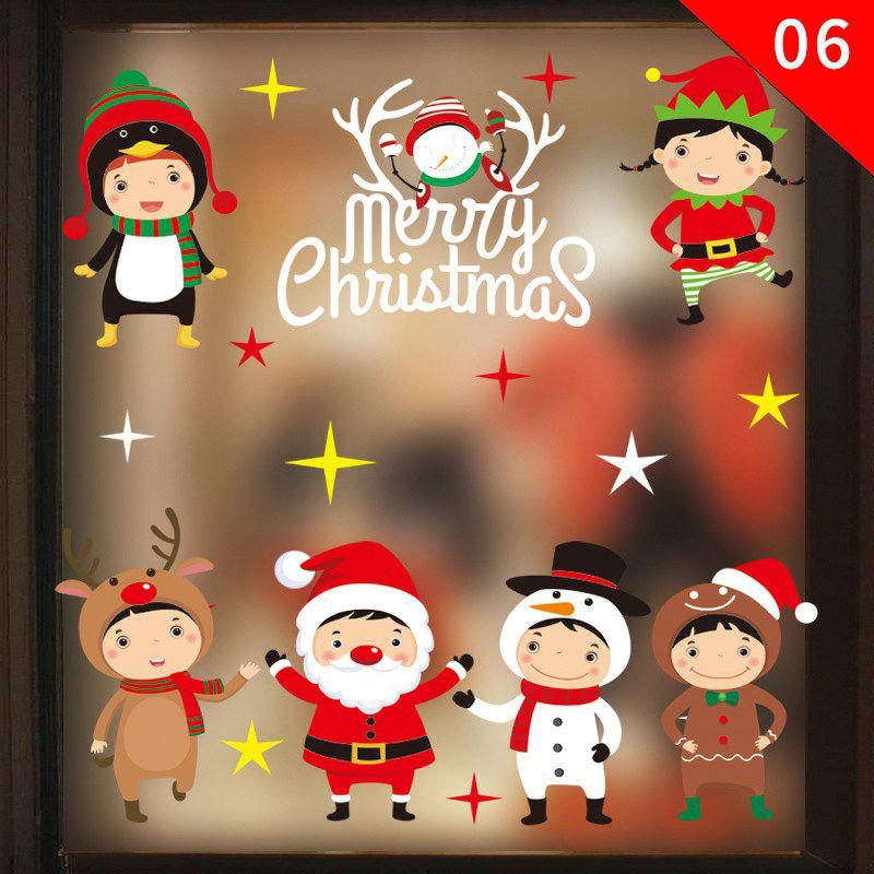 Fancy Christmas Ornament PVC Glass Seamless Static Sticker