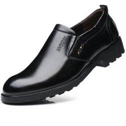 Men Leather Business Shoes Outdoor Slip on Increase Wedding Work Shoes -