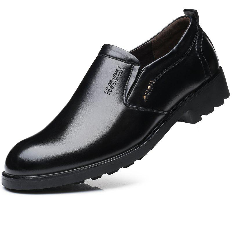 Outfit Men Leather Business Shoes Outdoor Slip on Increase Wedding Work Shoes