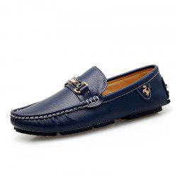 Men Leather Loafers Outdoor Slip on Driving Shoes -