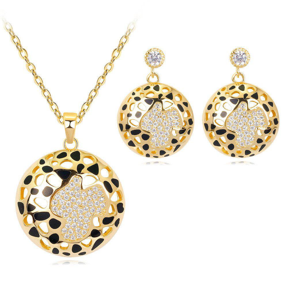 Chic Hollow Enamel Plated Genuine Gold Environmental Protection Copper Jewelry