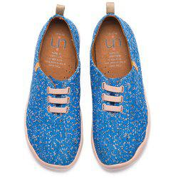 UIN Men's Shoes Moguer Painted Canvas Slip-On Travel Casual Shoes -
