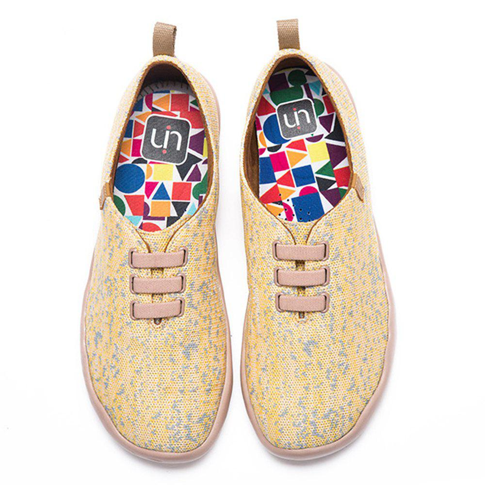 New UIN Men's Shoes Moguer Painted Canvas Slip-On Travel Casual Shoes