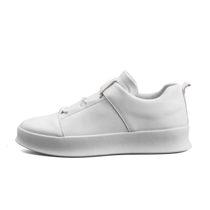 New Men Shoes White Fashion Cool Sneakers All-Match High Top White Shoes for Men D55