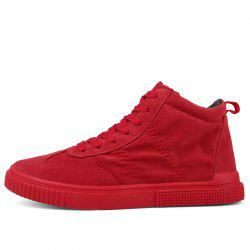 Casual Shoes Men Winter Red Black Sneakers All-Match Style Trend Fashion 1759 -